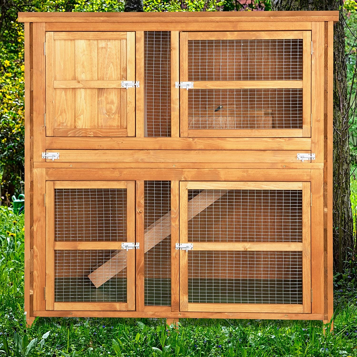 hutch ladder sale kinbor animal hutches small cage handmade bunny wooden rabbit itm w pet house for