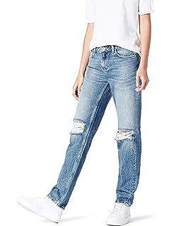 Fraternel Pantalones Vaqueros mujer boyfriend usado Azul ...
