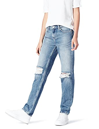 find Womens Boyfriend Mid Rise Ripped Jeans