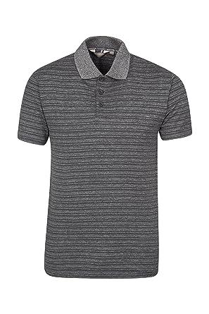 336b7a0ceabd Mountain Warehouse Saltash Mens Striped Polo T-Shirt - 100% Cotton Summer  Shirt