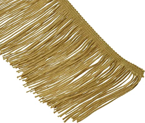Expo Chainette Fringe 4 Wide 20 Yards-Gold