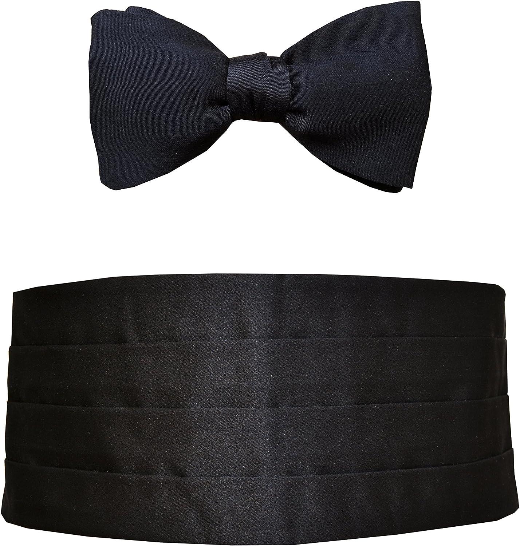 Max 54% OFF Remo Sartori Made in Italy Men's Silk Tuxedo Ranking TOP8 Cummerbund Be Black