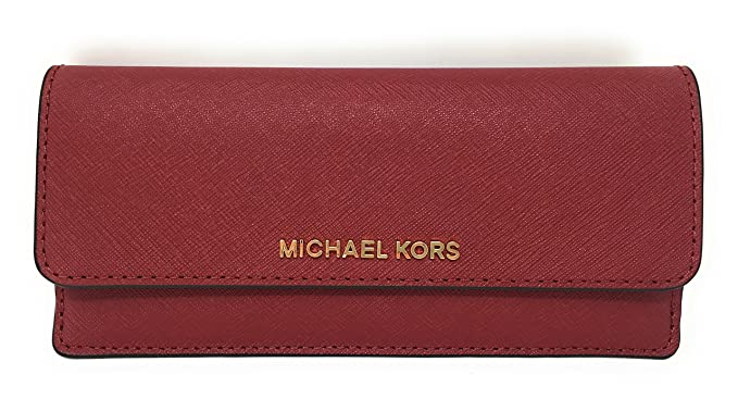 3cf30143ef36 Michael Kors Jet Set Travel Flat Saffiano Leather Wallet - Red - One Size
