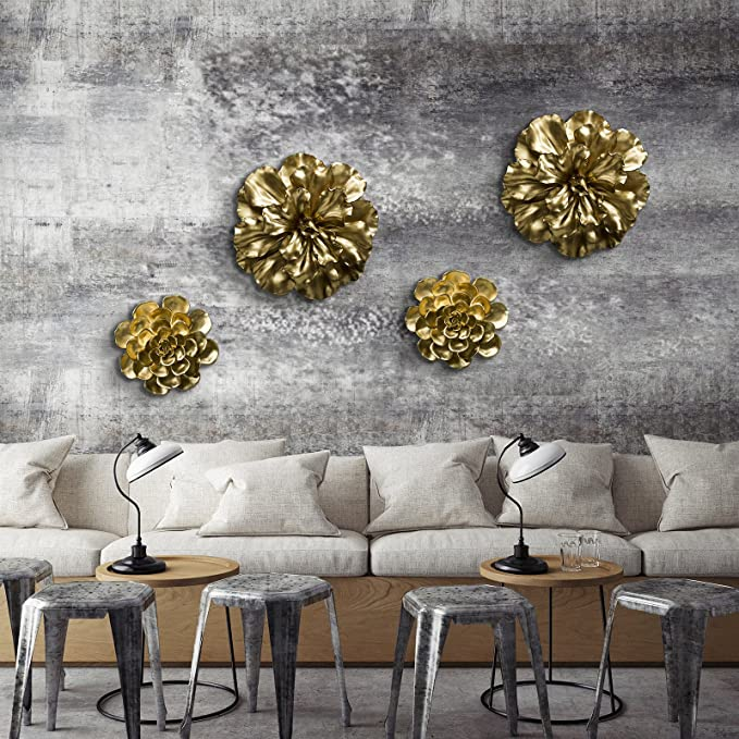 Fredrik Lorenz Wall Flower: Large and Bold Luxury Flower