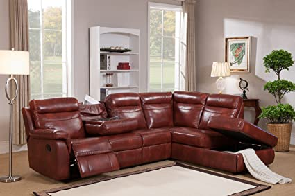 Awe Inspiring Amax Leather Hariston Sectional Sofa Dark Caramel Amazon Caraccident5 Cool Chair Designs And Ideas Caraccident5Info