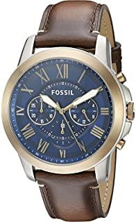 ffe3c0ed0b4 Amazon.com  Fossil Men s Grant Sport Quartz Stainless Steel and ...