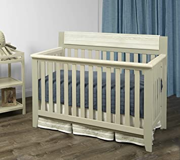 Suite Bebe Hayes 4 in 1 Convertible Crib White//Natural