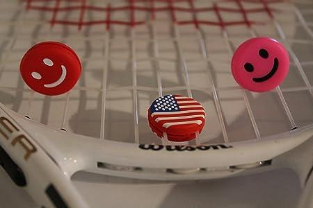 Funny tenis amortiguadores - Set de 3 con raqueta de tenis amortiguador de vibraciones - mejor para eliminar pinging sonido, silicona - de larga duración y ...