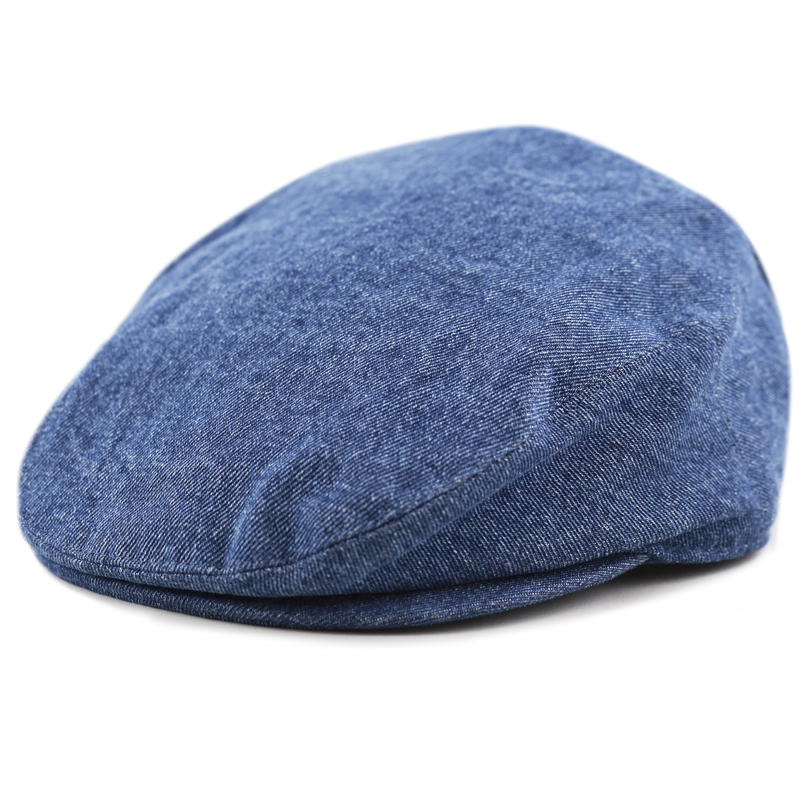c9988a77972 THE HAT DEPOT Washed Denim Cotton newsboy IVY Cap Style Hat - Denim.Fit