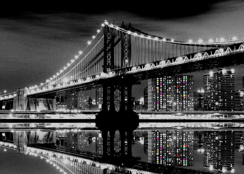 Artis 608695 Glassart Brooklyn Bridge Glass Print-Multicoloured 45 x 65 cm