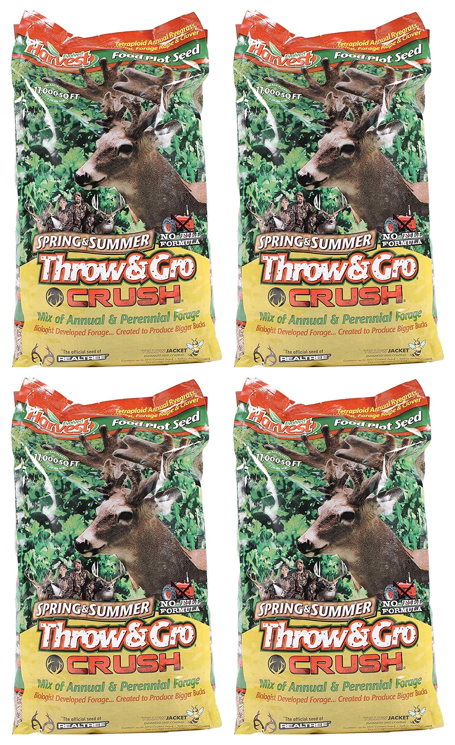 Evolved Harvest Throw & GRO Spring Crush Deer Food Plot Seed (Fоur Расk)