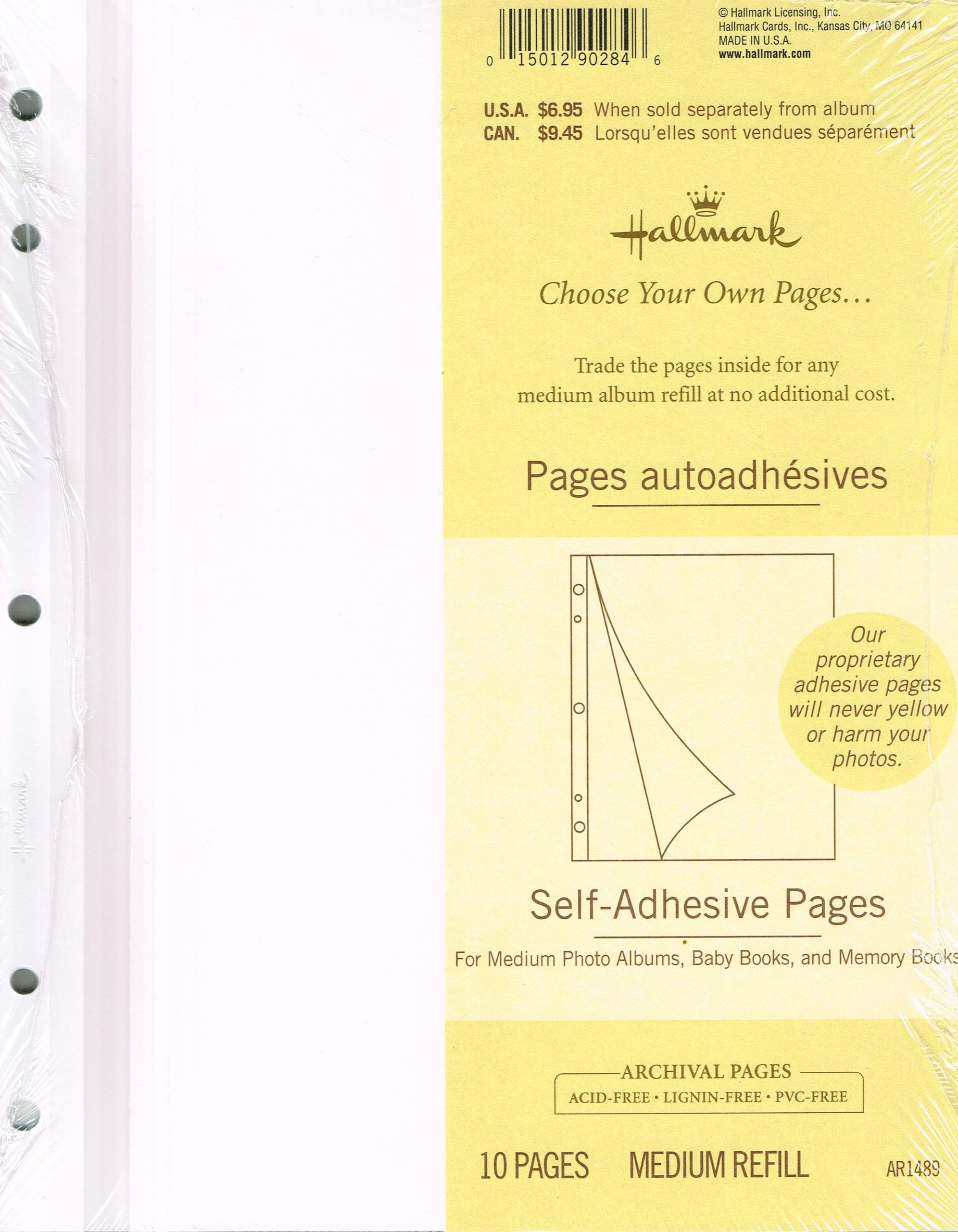Hallmark Medium Refill Self-Adhesive Pages