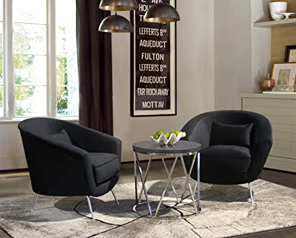 Gentil Armen Living LCTLCHBL Tulare Accent Chair, Black