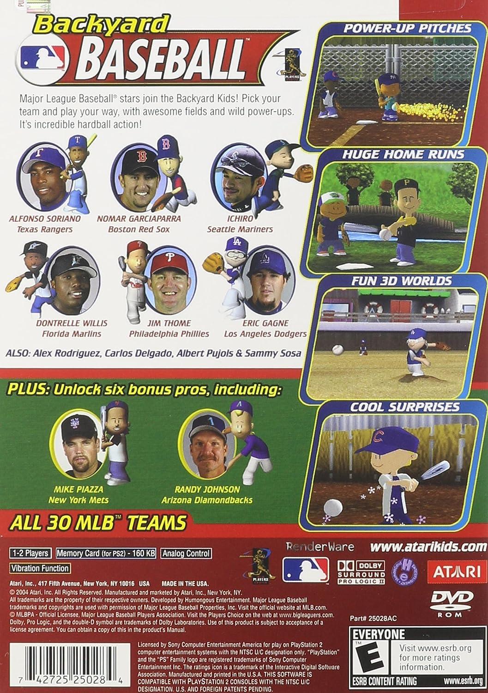 backyard baseball game artist not provided amazon co uk pc