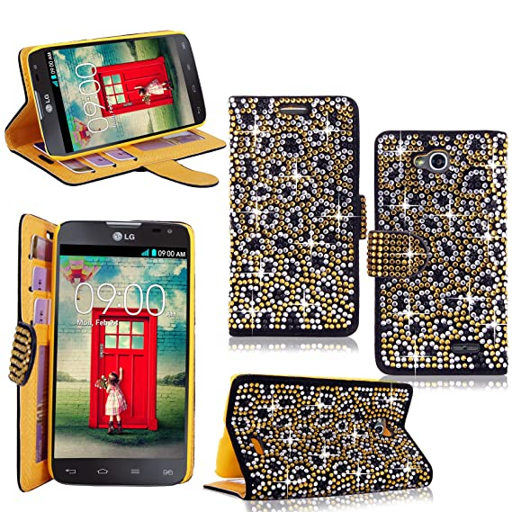 buy popular f8fbb a76c8 LG Optimus L90 Case - Cellularvilla Pu Leather Wallet Diamond Design  Sparkle Glitter Card Flip Open Pocket Case Cover Pouch For LG Optimus L90  Dual ...