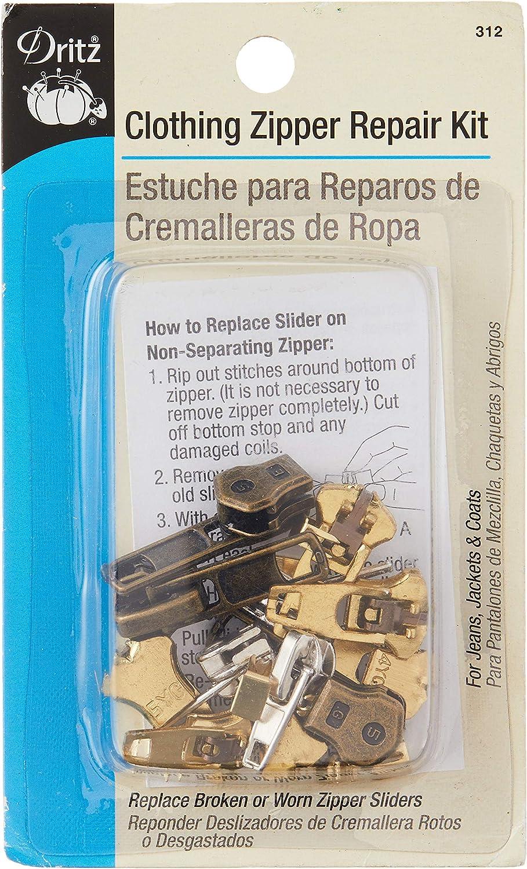 Dritz 312, Clothing Zipper Repair Kit, Assorted