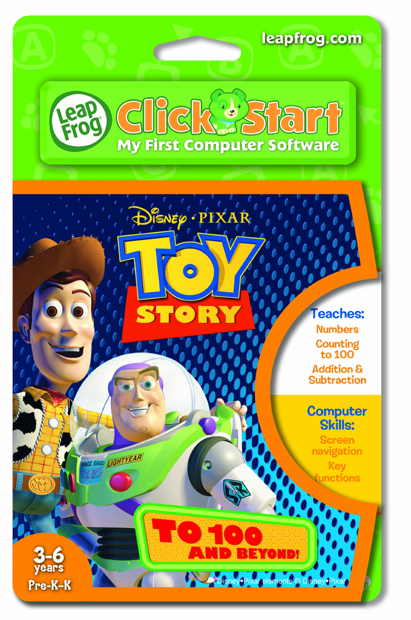 Leapfrog Clickstart Educational Software:Toy Story To 100 + Beyond
