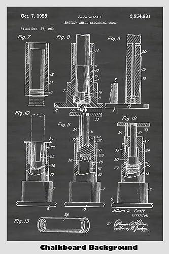 Amazon Shotgun Shell Reloader Patent Print Art Poster Choose