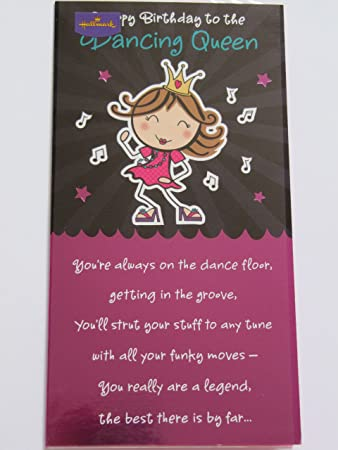 Hallmark happy birthday poem to the dancing queen birthday greeting hallmark happy birthday poem to the dancing queen birthday greeting card bookmarktalkfo Choice Image