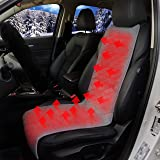 Sojoy Universal 12V Heated Smart Multifunctional Car Seat/Cushion Warmer High/Medium/Low, Automatic Shut-Off Timer (Dark Gray, 3 Temp Switch)