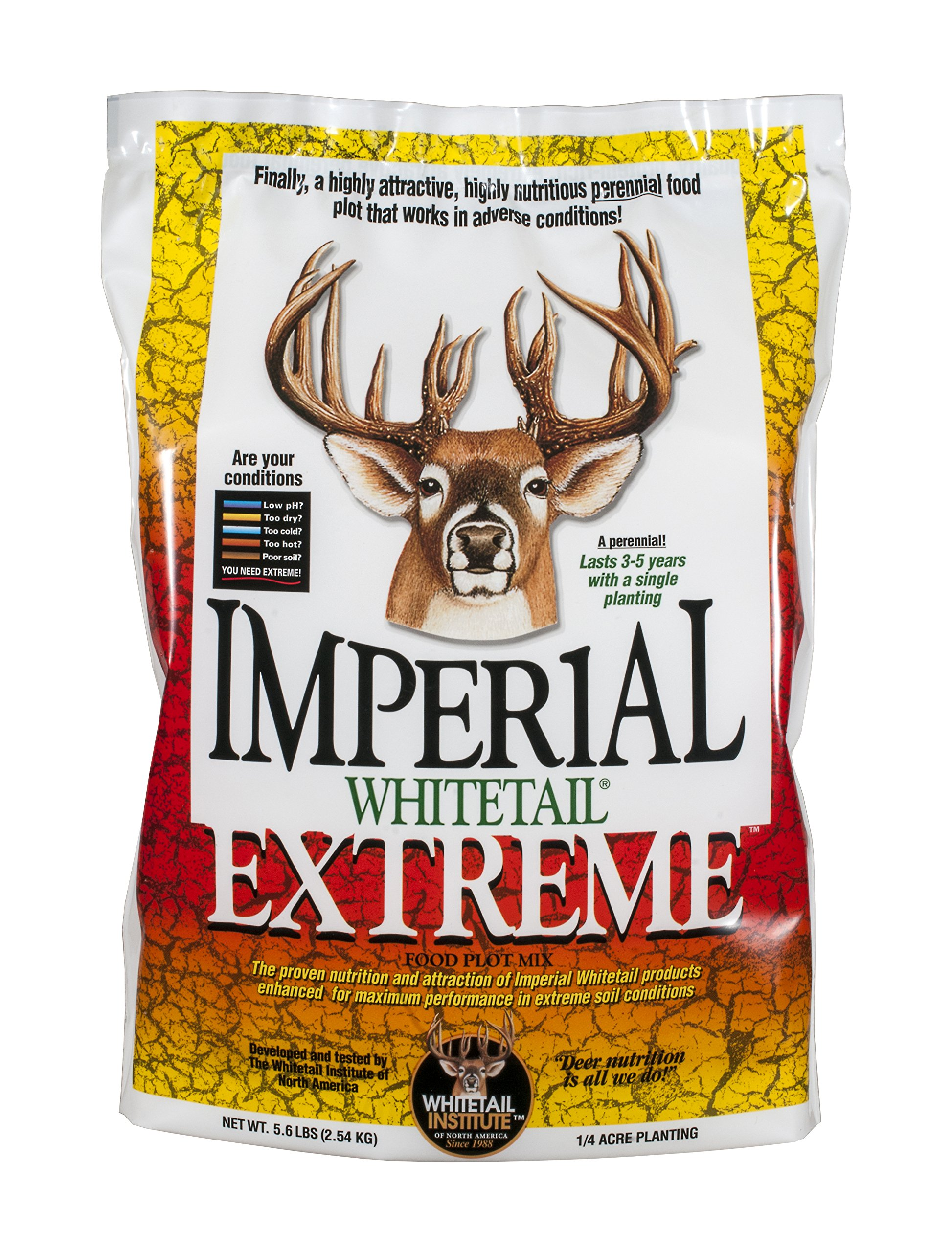 Whitetail Institute Imperial Extreme Food Plot Seed (Spring and Fall Planting), 5.6-Pound (.25 Acres) by Whitetail Institute