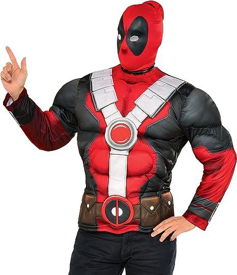 Kit disfraz de Deadpool musculoso para hombre: Amazon.es: Juguetes ...