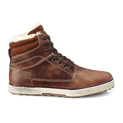 7a0225e0cd3cd2 Cox Herren Winter Sneaker - Winterstiefel - Boots - Glattleder - hoher  Stiefel - Rutschhemmende Profilsohle