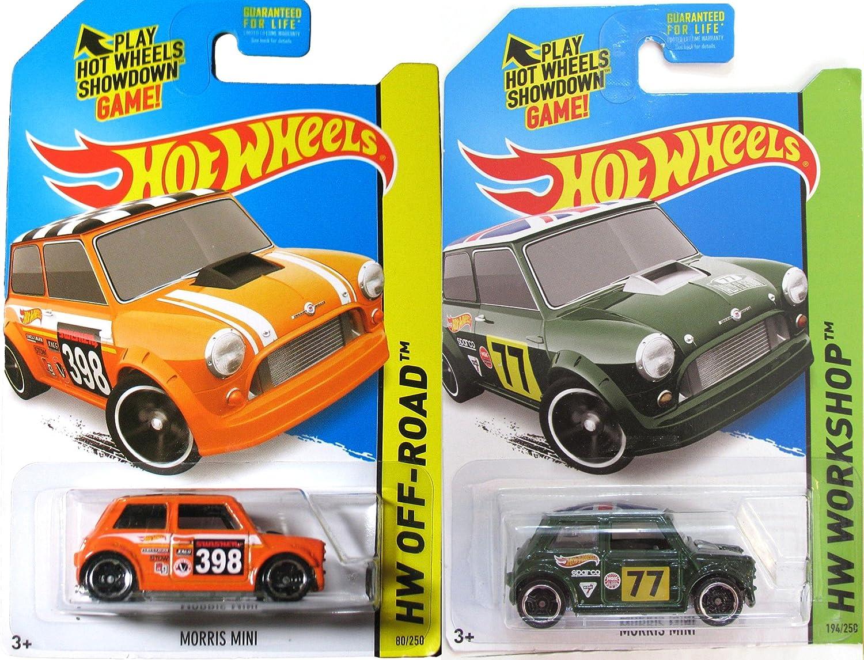 Amazoncom Morris Mini Cooper Hot Wheels 2 Pack Set Hw Workshop