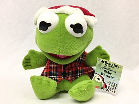 Amazon.com  Baby Kermit The Frog Plush 1988 From McDonalds  Toys   Games 2a8c202af91