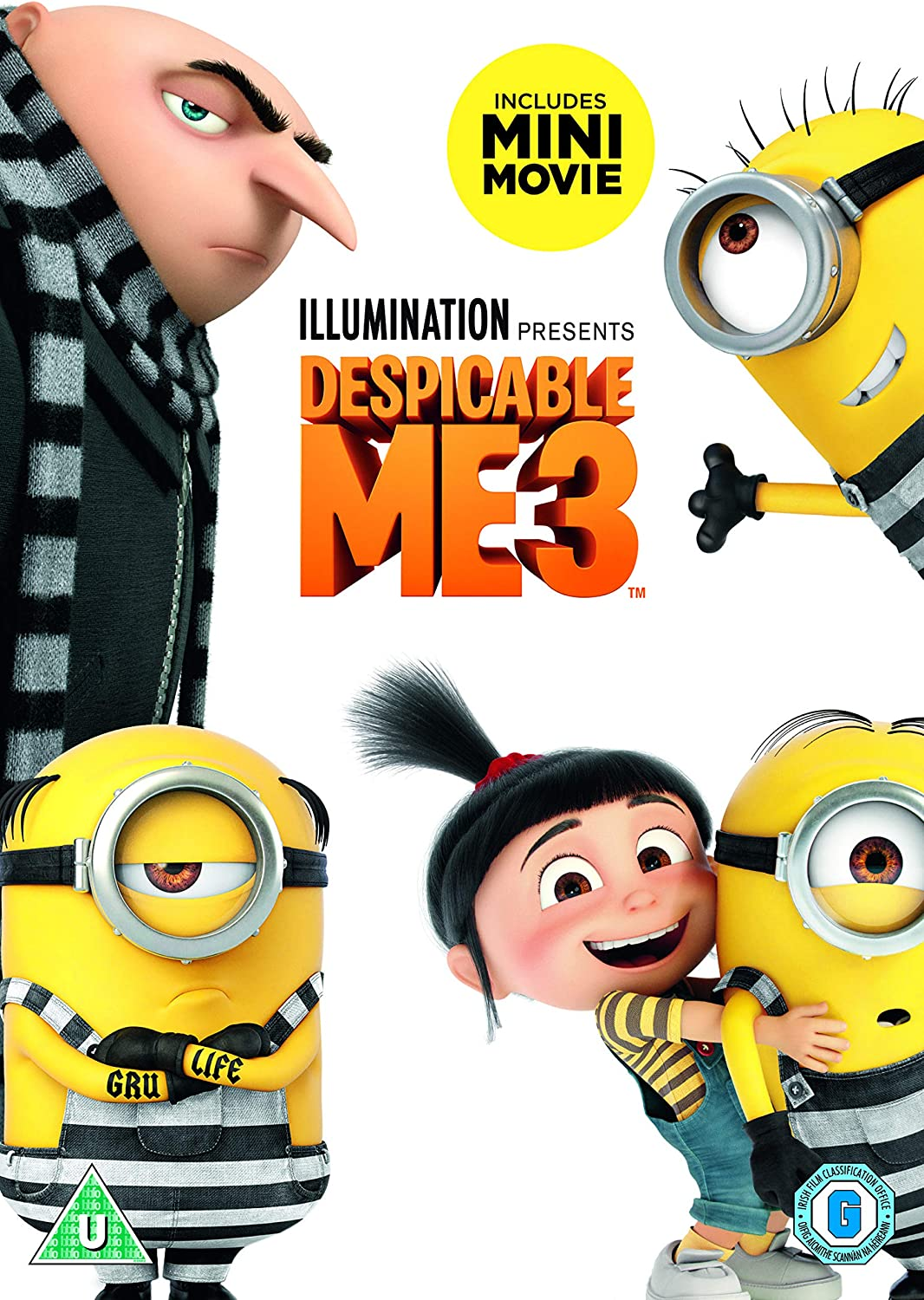 Despicable Me 3 Dvd 2017 Amazon Co Uk Kyle Balda Pierre Coffin Janet Healy Christopher Meledandri Cinco Paul Ken Daurio Dvd Blu Ray