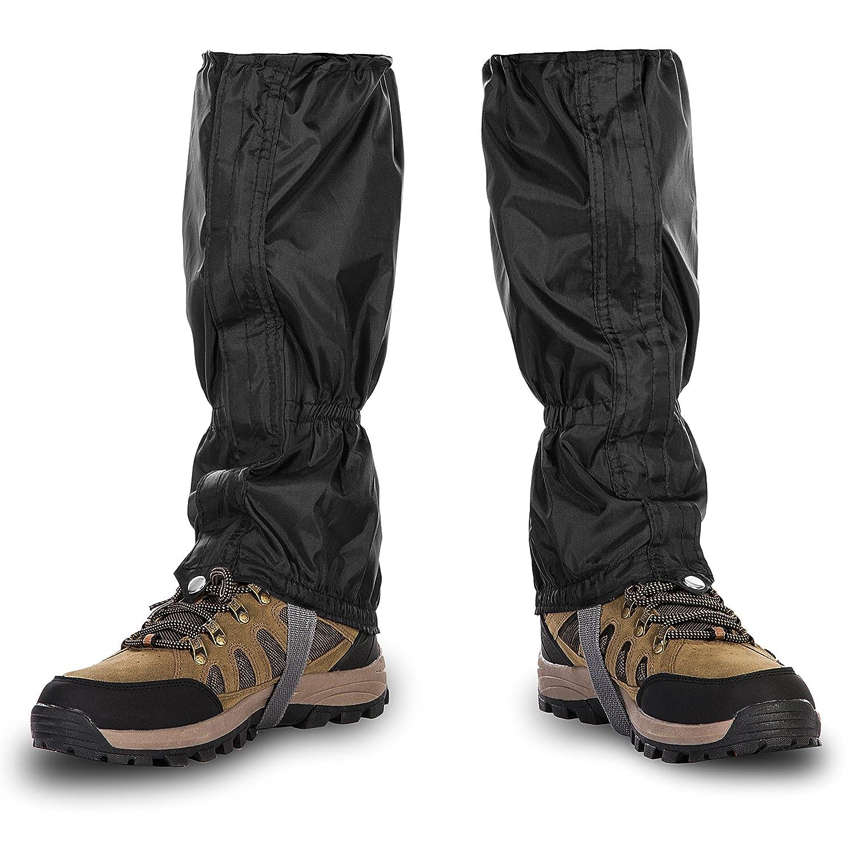 colore nero 1/paio neve ghette impermeabili arrampicata per attivit/à allaperto Henmerry camminata escursionismo