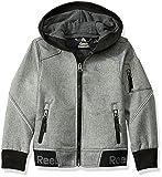Reebok Boys' Little Active Logo Hem Jacket, Grey