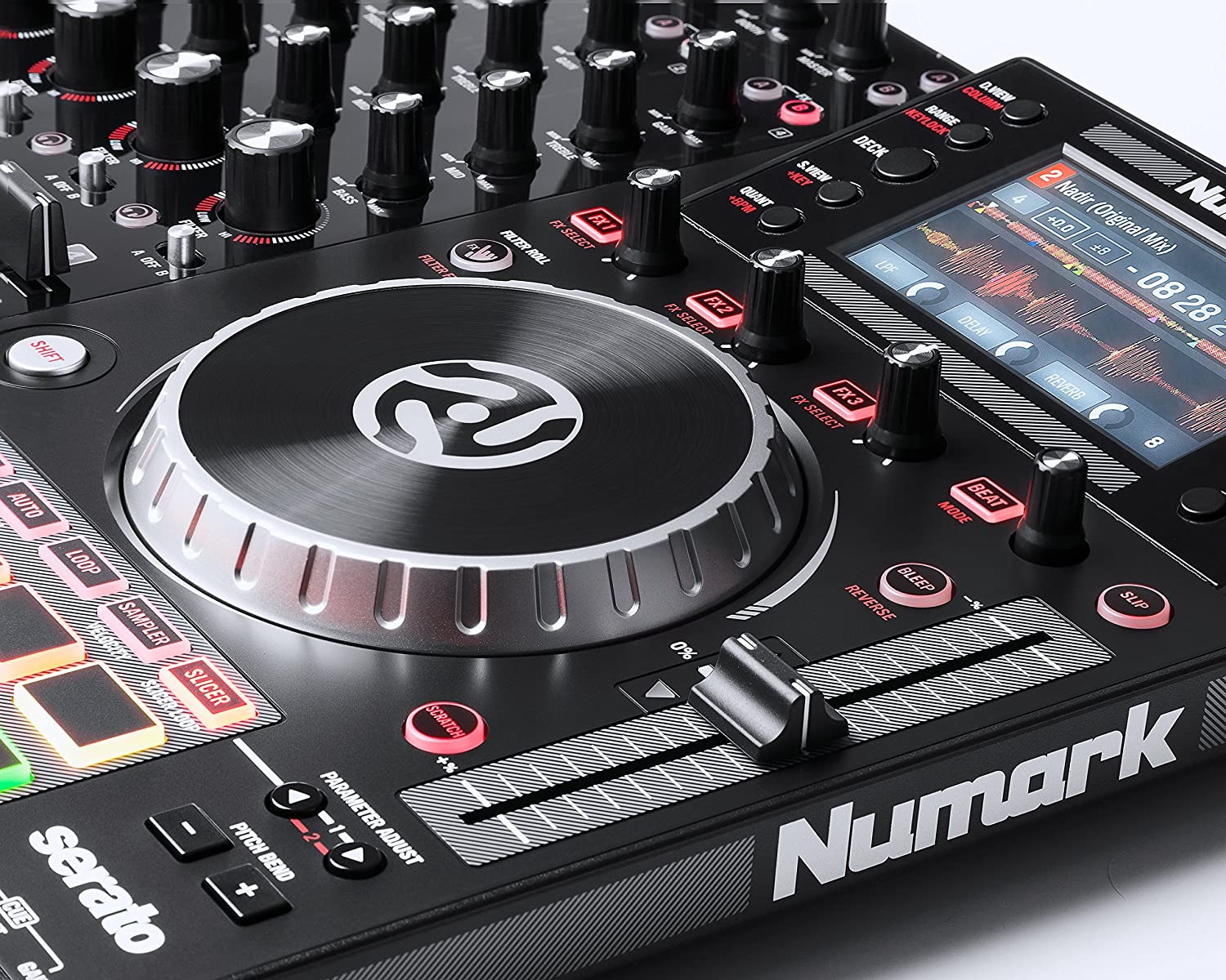 Numark Nvii Dj Controller For Serato With Mixtrack Pro Wiring Diagram Intelligent Dual Display Screens Touch Capacitive Knobs Musical Instruments