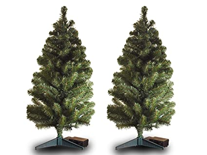 3 Foot Prelit Christmas Trees.Amazon Com Set Of 2 3 Ft Tall Cordless Battery Powered