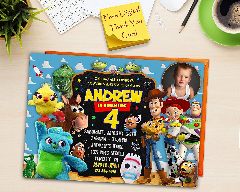 Amazon Toy Story 4 Birthday Invitation