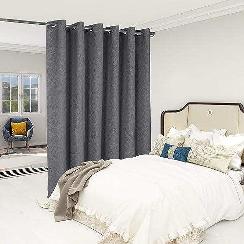 LORDTEX Burlap Linen Look Textured Room Divider Curtains