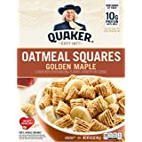 Quaker Oatmeal Squares, Golden Maple, Crunchy Oat Breakfast Cereal, 14.5oz Box