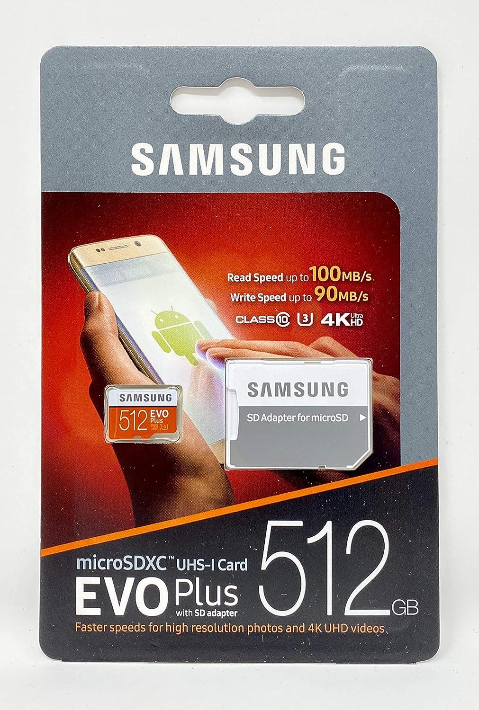 Amazon Com Samsung Memory Mb Mc512ga Am 512 Gb Evo Plus Class10 Micro Sd Card With Adapter Computers Accessories
