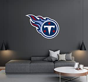 "Tenessee Titans - Football Team Logo - Wall Decal Removable & Reusable For Home Bedroom (Wide 20""x14"" Height)"