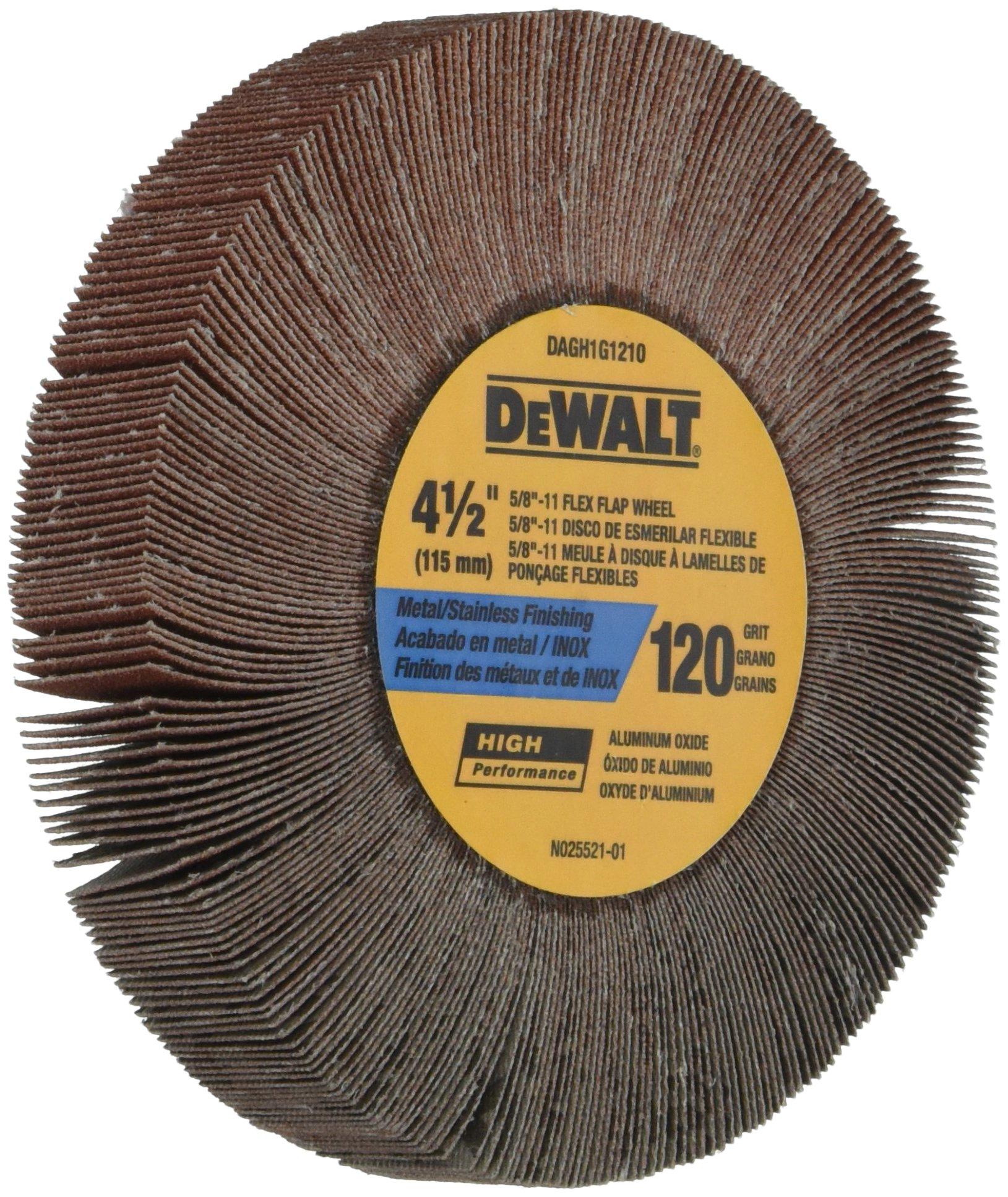 DEWALT DAGH1G1210 4-1/2 by 1-3/26 by 5/8-11 120g Flap Wheel