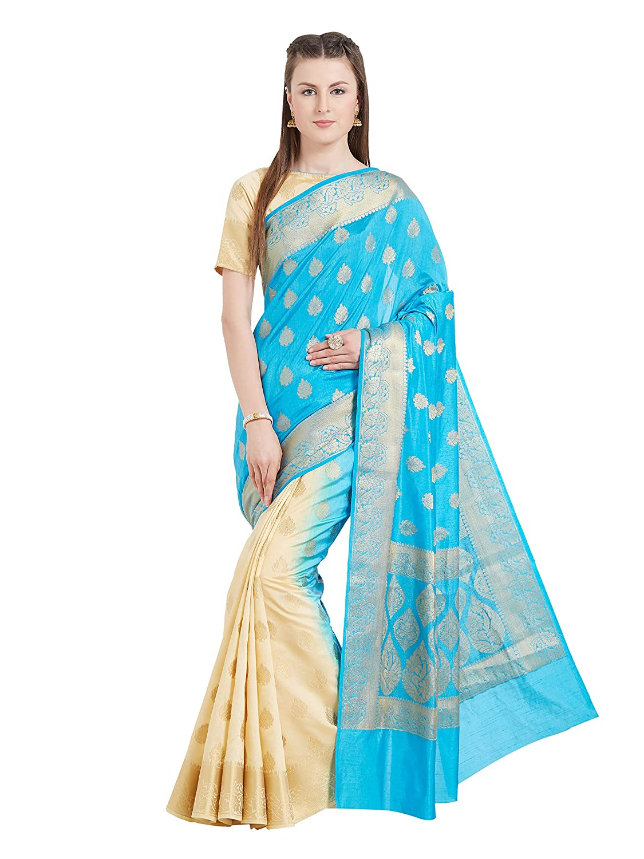 Viva N Diva Indian Sarees for Women's Wedding Sari Festive Gift Wear Banarasi Art Silk Saree Free Size 25553