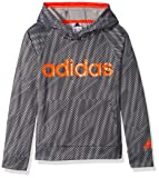adidas Boys' L Athletic Pullover Hoodie, Grey Five, L