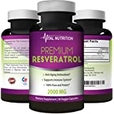 Pure Resveratrol – 2000mg - Strongest, Most Effective Blend on Amazon – 90 Capsules – Order Risk Free