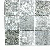 Fantastisch Fliesen Mosaik Mosaikfliese Keramik Matt Küche Bad WC Boden 6mm Neu #567