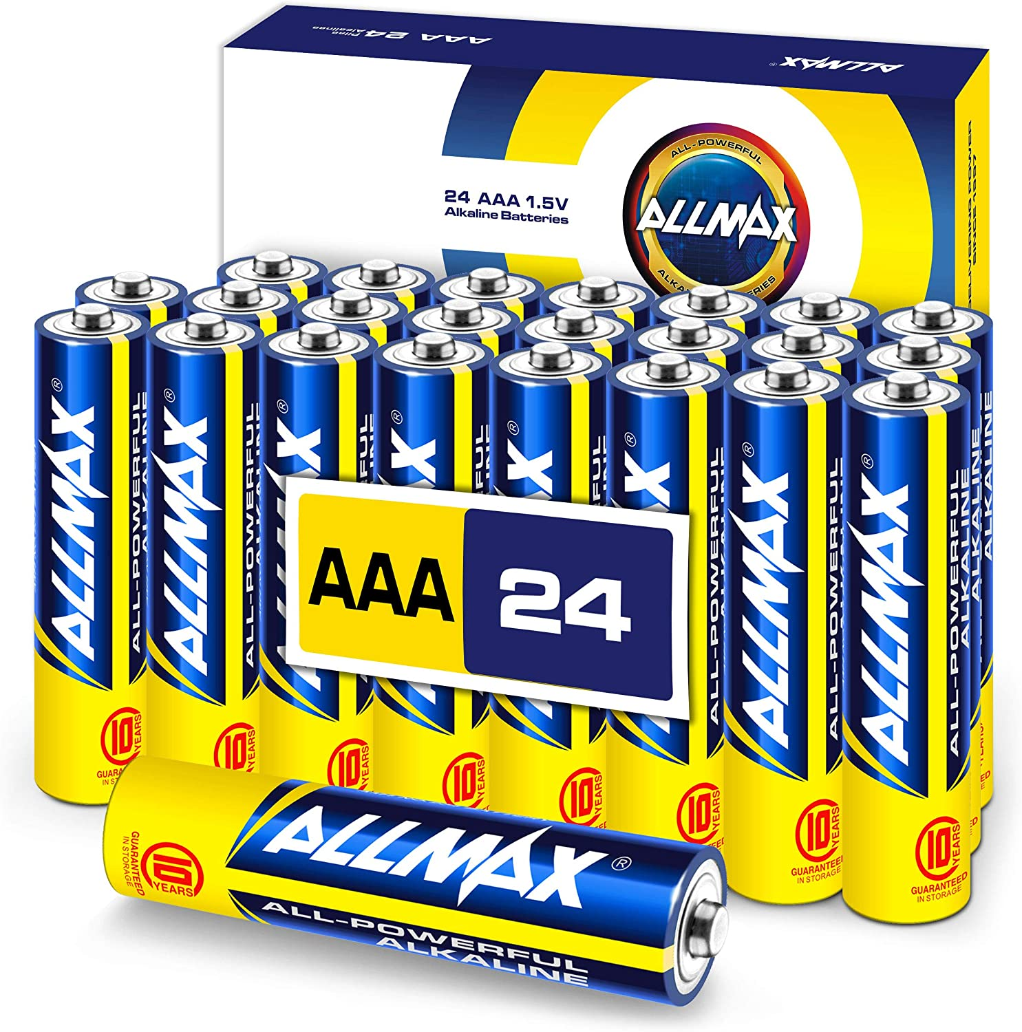 ALLMAX All-Powerful Alkaline Batteries - AAA (24-Pack) - Premium Grade, Ultra Long-Lasting and Leak Proof with EnergyCircle Technology (1.5 Volt)