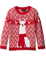 Blizzard Bay Boys' Llama Xmas Sweater