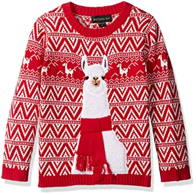 Llama Christmas Sweater.Blizzard Bay Boys Llama Xmas Sweater