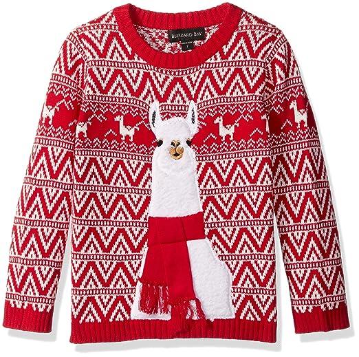 9774b33e06c Blizzard Bay Boys' Llama Xmas Sweater
