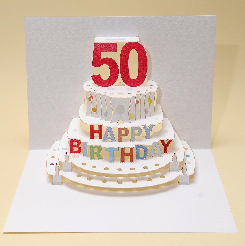 Strange Amazon Com Forever Handmade Cards Pop Ups Pop47 50Th Birthday Funny Birthday Cards Online Inifodamsfinfo