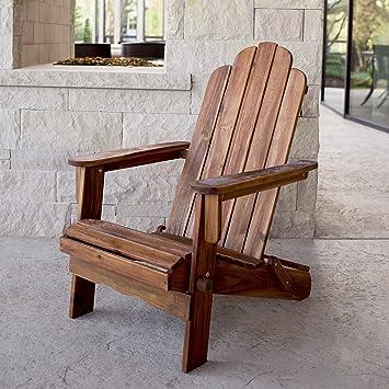 amazon com we furniture acacia adirondack chair brown garden